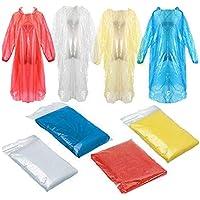 Bianco JYSM Impermeabile Impermeabile per Adulti Impermeabile PEVA Mantello Pioggia Protezione Ambientale Impermeabile Impermeabile Poncho Impermeabile Impermeabile da Viaggio