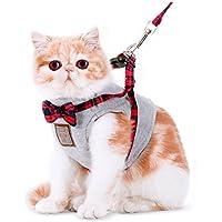 CS El tipo de chaleco del arnés de cuerda de tracción del gato El gato que camina especial evita el escape ( Color : Gray , Size : S chest 34-37CM )