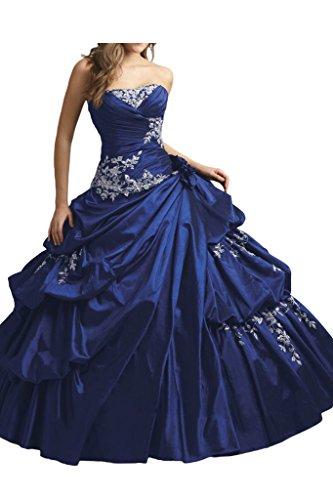 Victory Bridal - Robe - Trapèze - Femme Bleu royal
