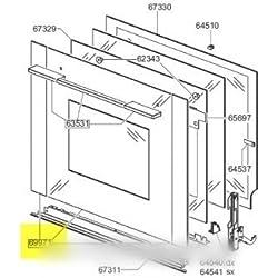 SMEG - ensemble vitre exterieure de porte pour four SMEG