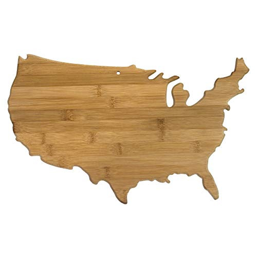 Totally Bamboo Alaska State Servier- und Schneidebrett aus Bambus USA USA (Totally Bamboo Schneidebrett)