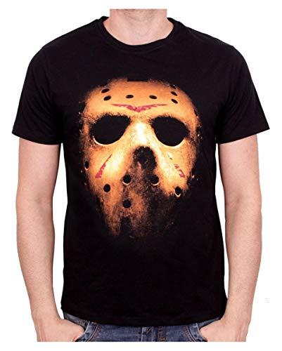 Horror-Shop Jason's Mask Baumwoll-T-Shirt für Fans & Sammler M