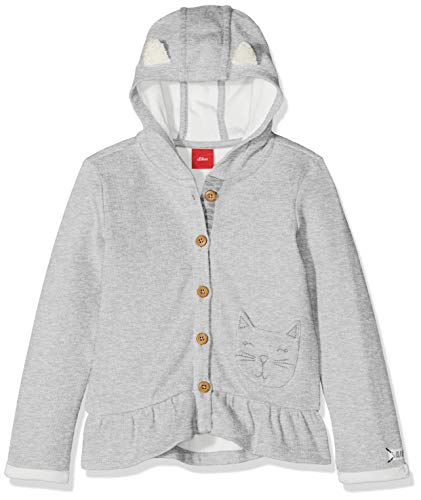 s.Oliver Baby-Mädchen 65.808.43.7968 Sweatjacke, Grau (Light Grey Melange 94w7), 86