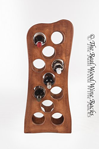 The Real Wood Wine Racks Weinregal / Weinschrank Rook 11 Calvados, aus Echtholz, fasst...