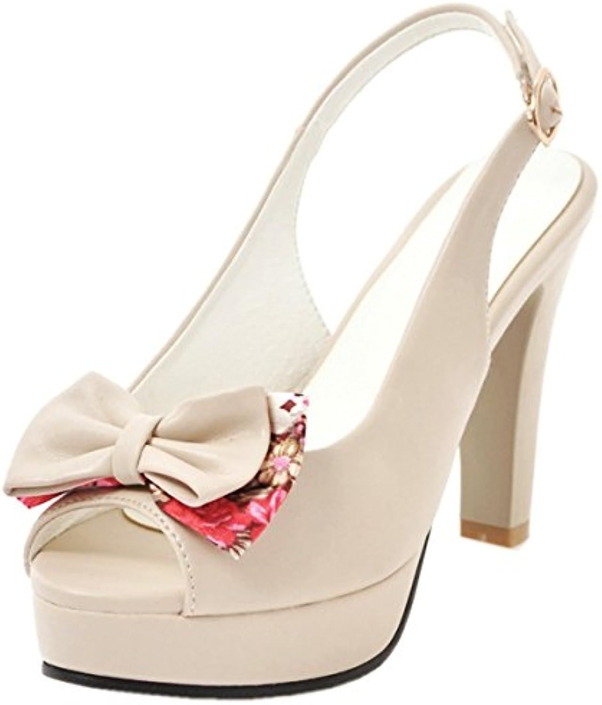 Rongzhi Femmes  s Bloc Bloc Bloc Talons Hauts Chaussures Ouvert Orteil Slingbacks Sangle Plateforme Noeud PapillonB07CVKXGH9Parent 4f2827
