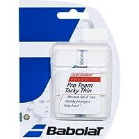 Babolat over Grip Pro Team Tacky 3unidades, color blanco, One size, 653030–101