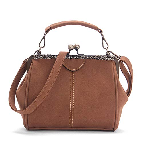 02e2bc84c023b Lamdoo New Women Handbag Shoulder Bags Tote Purse Kiss Lock Frosted  Messenger Hobo Satchel Bag Crossbody