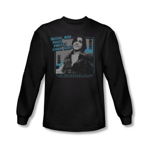 Breakfast Club - Männer Bad Langarm-Shirt In Schwarz Black