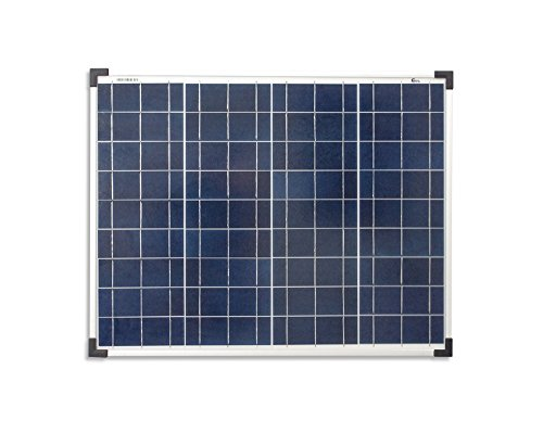enjoysolar® Polykristallin 50Watt 12V Solarmodul Solarpanel Poly 50W ideal für Garten Wohnmobil Caravan (Panel 12v 50w Solar)