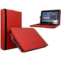 "10.1(QWERTY teclado Bluetooth Funda para Tablet/libro Cover para Lenovo Tab2A10–30–10.1""rojo"