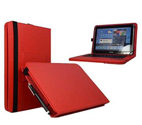 Tablet-Schutzhülle für Acer Iconia Tab 10 A3-A40-25,7 cm (10,1 Zoll), QWERTY-Bluetooth-Tastatur, Rot