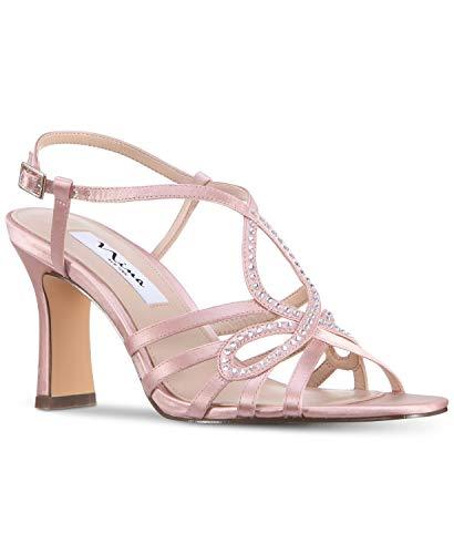 Nina Frauen Amabel Offener Zeh Besonderer Anlass Leder Slingback Sandalen Pink Groesse 10 US /41.5 EU Nina Ankle Strap Heels