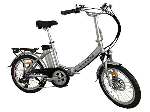 GermanXia Elektro-Faltrad Mobilemaster Touring CH-13 D 7G Shimano 20 Zoll mit Drehmomentsensor, eTurbo 250 Watt HR-Antrieb, bis zu 156 km Reichweite nach StVZO