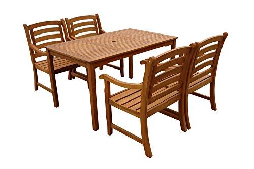 Indoba Gartenmöbel Set, 5-teilig 'Montana' - Gartenset - Serie Montana, braun, 135 x 85 x 74 cm, IND-70289-MOSE5ST4