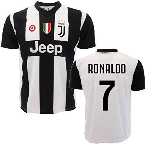 Perseo trade maglia ronaldo 7 maglietta juventus replica ufficiale 2018/2019 ps 27365-2 anni