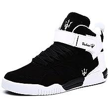 new concept 312d6 45ab6 MUOU Uomo Sneaker Scarpe da Corsa Scarpe da Ginnastica Uomo Sportive  Fitness Running Casual Nero