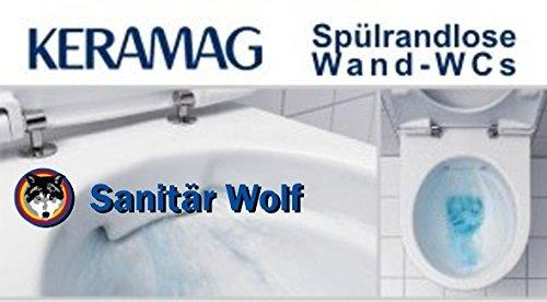 Preisvergleich Produktbild Keramag Renova Nr. 1 Wand-WC spülrandlos weiss KeraTect Haro WC Sitz Softclose TakeOFF