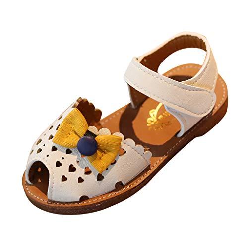 Lauflernschuhe Fliegendes Weben Schuhe Mesh Atmungsaktiv Sportschuhe Freizeit Krabbelschuhe,Kleinkind Säugling Kind Baby Mädchen Bowknot herzförmige aushöhlen weiche Schuhe Sandalen