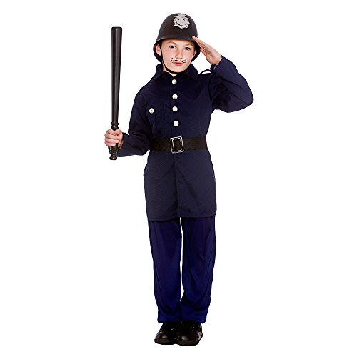 (M) (5-7) Boys Victorian Policeman Costume for Dickensian Edwardian Fancy Dress ()