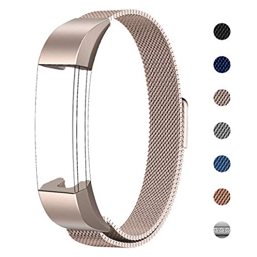 """Swees für Fitbit Alta HR und Alta Milanese Edelstahl Armband(5.5\""""~8.6\"""")"""