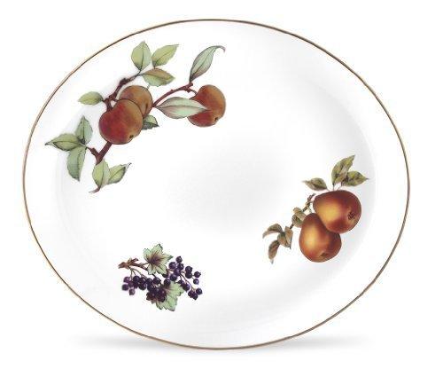 Royal Worcester Evesham Gold Porcelain 15-by-12-inch Oval Platter by Royal Worcester