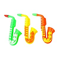 Ruikey. 3Pcs Sonud Toys Mixed Saxophone Horn Sports Cheering Props High-pitched Fans Horn Children