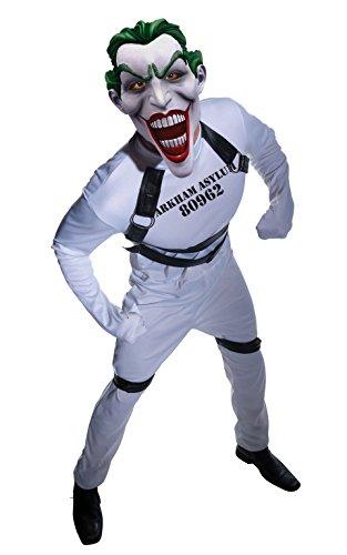 Joker Asyl Kostüm - Rubie 's Offizielles Erwachsene 's Joker Kostüm rougues Arkham City-Standard bis zu 106,7cm Brust