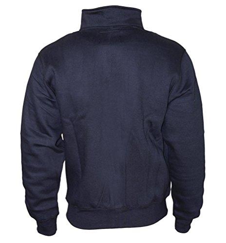Sweaterjacke Pullover Herren Zipper Jacke Original ROCK-IT Farbe schwarz Dark Heather Grau Navy Navy