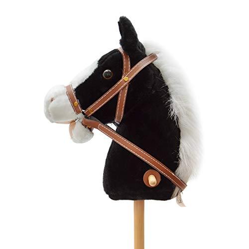 ferd, Beauty, süßes Spielzeug Pferd aus Plüsch mit Sound Funktion: Gewieher und Galoppgeräusch - Farbe: schwarz mit weißer Mähne ()
