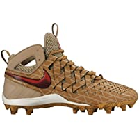 Nike Huarache 4Lax Elite Creador Lacrosse tacos 807120–200hombres 12Caqui Rojo
