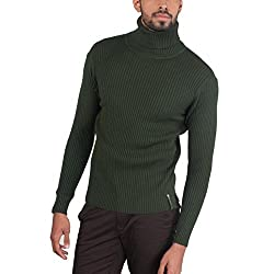 Provogue Mens Woolen Sweater (8903522446368_103592-GR-216_Medium_Petrol)