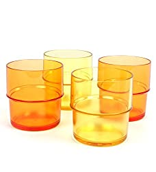 TUPPERWARE Preludio Tumbler 250 ml, Pack of 4