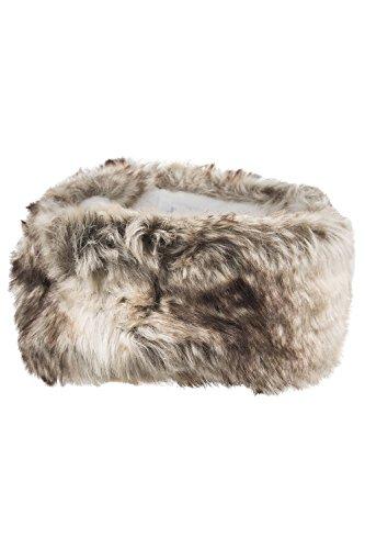 mountain-warehouse-womens-ladies-warm-winter-snowboarding-snow-ski-faux-fur-headband-hat-light-brown