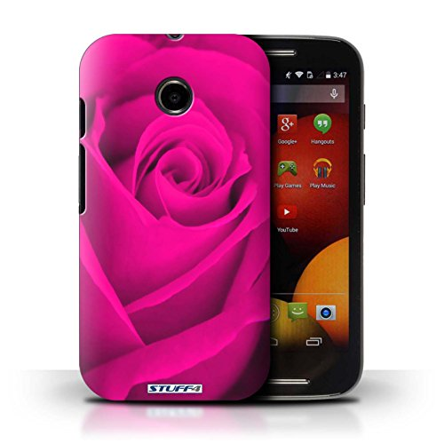 Kobalt® Imprimé Etui / Coque pour Motorola Moto E (2014) / Rose conception / Série Rose Rose