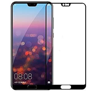 Qawachh®,Huawei P20 Pro Tempered Glass Full Screen Black Colour(Pack of 2)(Free Wipes Kit)