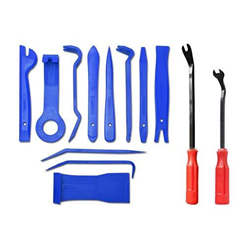 Erduo 13 Teile/Satz Trim Removal Tool Set Handwerkzeuge Stemm Bar Panel Tür Innen Clip Remover Set Auto Armaturenbrett Öffnungswerkzeug Set - Panel Remover-tool
