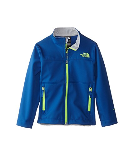 The North Face Boy's Apex Bionic Jacket Monster Blue/Safety Green XX-Small -