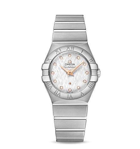 Omega constelación plata diamante Dial Damas Reloj 123.10.27.60.52.001