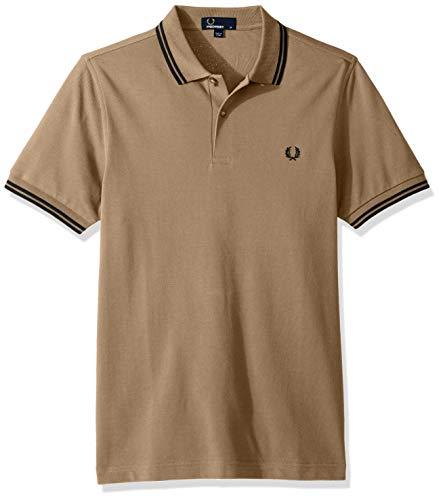 Fred Perry Herren Twin gekippt m3600-Polo-shirt Khaki M -