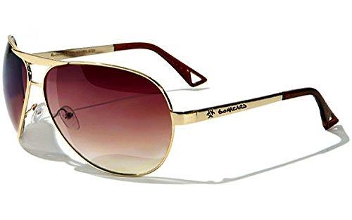 Occhiali da Sole Biohazard Aviator - Sport - Ciclismo - Sci - Moto - Spiaggia - Stile - Moda / Mod. Classic Rosso Gradiente