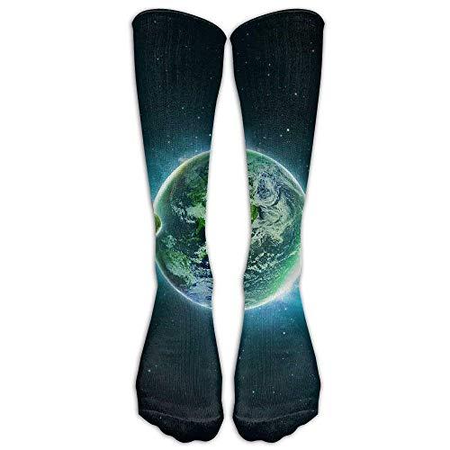 HUKEDCQ Unisex Space Planets Outer Desktop 3D Nature Wallpaper Knee High Winter Socks Not 3D Print Long Sports Stockings