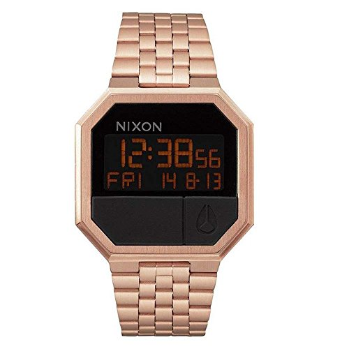 Nixon Damenuhr Digital Quarz mit Edelstahlarmband – A158897-00 (Nixon Watch Gold Rose)