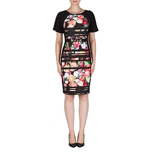 Joseph Ribkoff Floral Print Flutter Sleeve Dress Style 181732 Size 18 (Floral Flutter Dress Sleeve)
