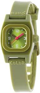 Baby Watch Mädchen-Armbanduhr Analog Plastik grün Nano color kaki