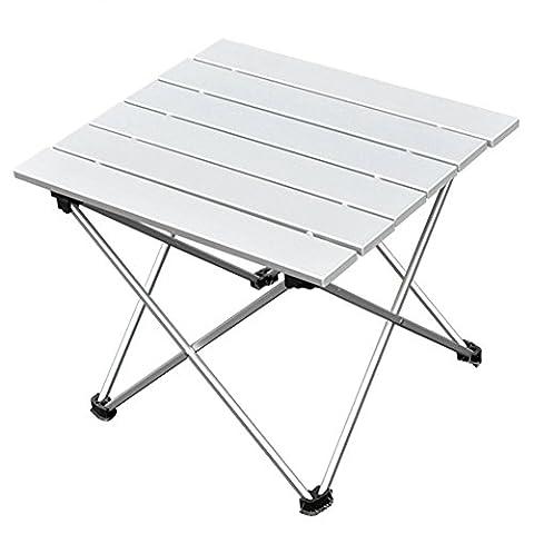 Table Ronde Legere - Table de Camping Pliante Ultra Légère Table