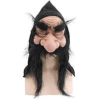 Bristol Novelty Máscara de gnomo con capucha/barba, un tamaño