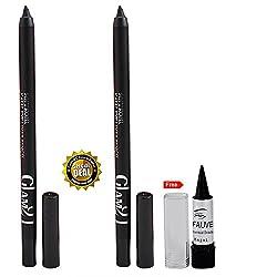 Glam 21 Soft Kohl Kajal Eyeliner Buy 1 Get 1 Free With Kajal