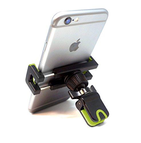 iVoler Porta Cellulare Auto con Clip - Universale Supporto Auto Smartphone 360 Gradi Rotazione Griglia di Ventilazione Car Mount per iPhone, Samsung, Huawei, Xiaomi, ECC. - Nero/Verde