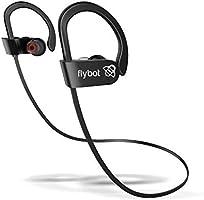 Flybot Sport Deep Bass in-Ear Wireless Bluetooth Earphone with Mic, Qualcomm Chipset, IPX7 Waterproof - (Black)