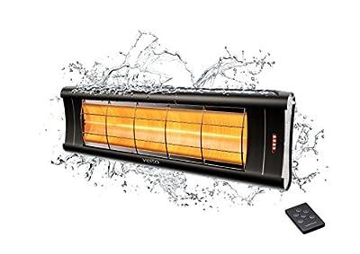 Veito Aero S Design Infrarot-Heizstrahler, 2500 Watt, Fernbedienung, 4 Heizstufen Dimmer, Wintergarten, Terrassenstrahler, Infrarotstrahler elektrisch von veito auf Heizstrahler Onlineshop